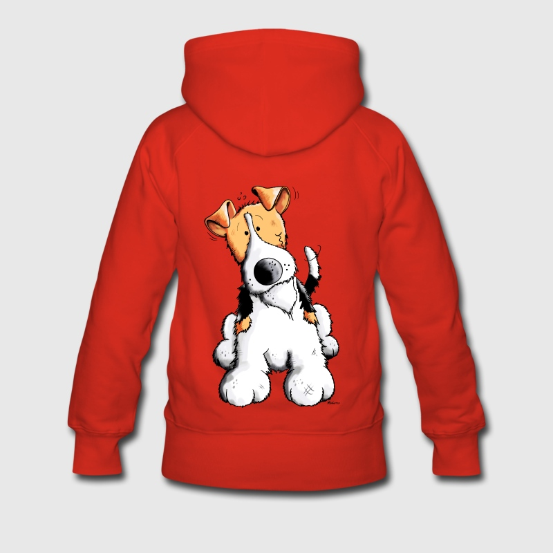Drôle Fox-terrier Sweat-shirts - Sweat-shirt à capuche Premium pour femmes