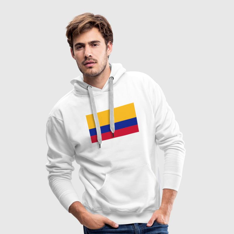 Drapeau national de la Colombie Sweat-shirts - Sweat-shirt à capuche Premium pour hommes