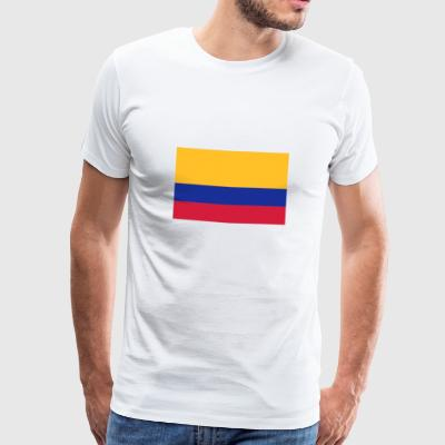 Drapeau national de la Colombie Sous-vêtements - T-shirt Premium Homme