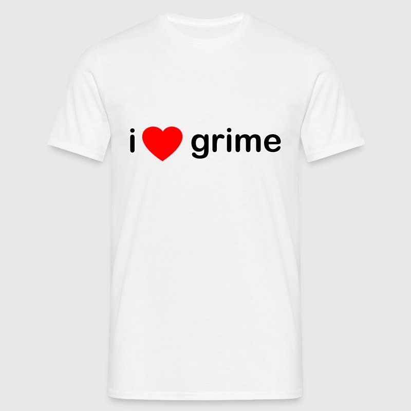 White I Love Grime DJ Men's T-Shirts - Men's T-Shirt