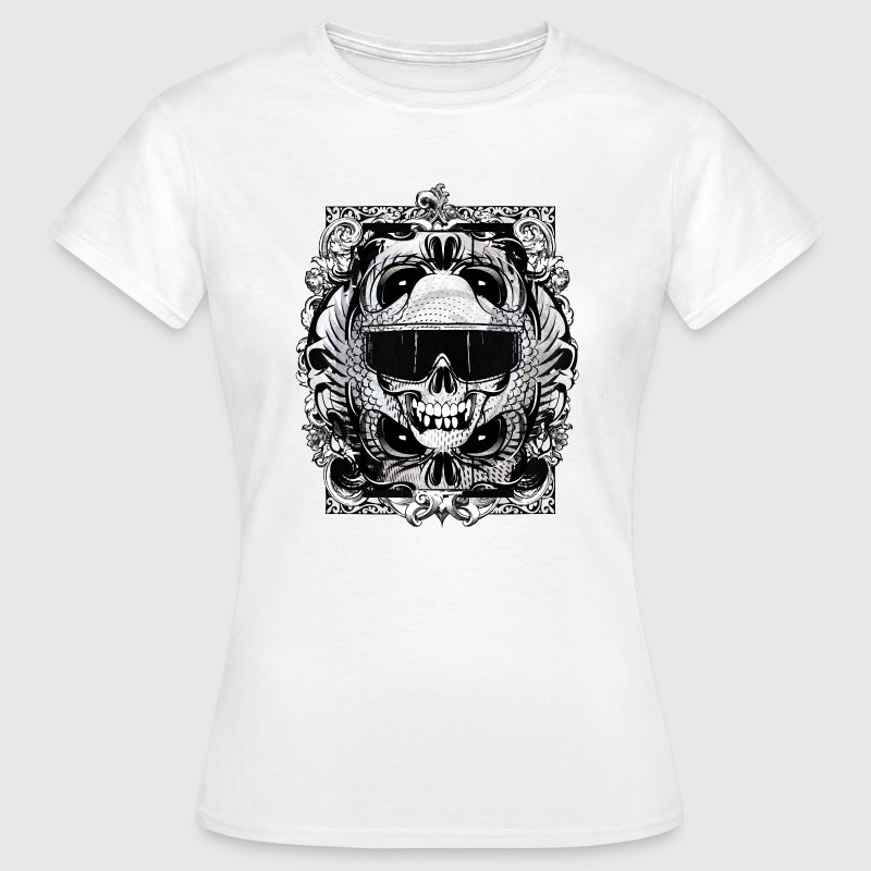 totenkopf tattoo brille rocker skull t shirt. Black Bedroom Furniture Sets. Home Design Ideas