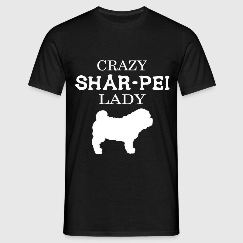 Crazy Shar-pei Lady - Men's T-Shirt
