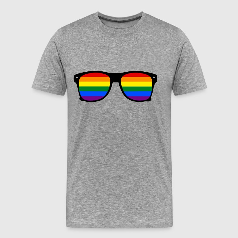 Rainbow Glasses - Men's Premium T-Shirt