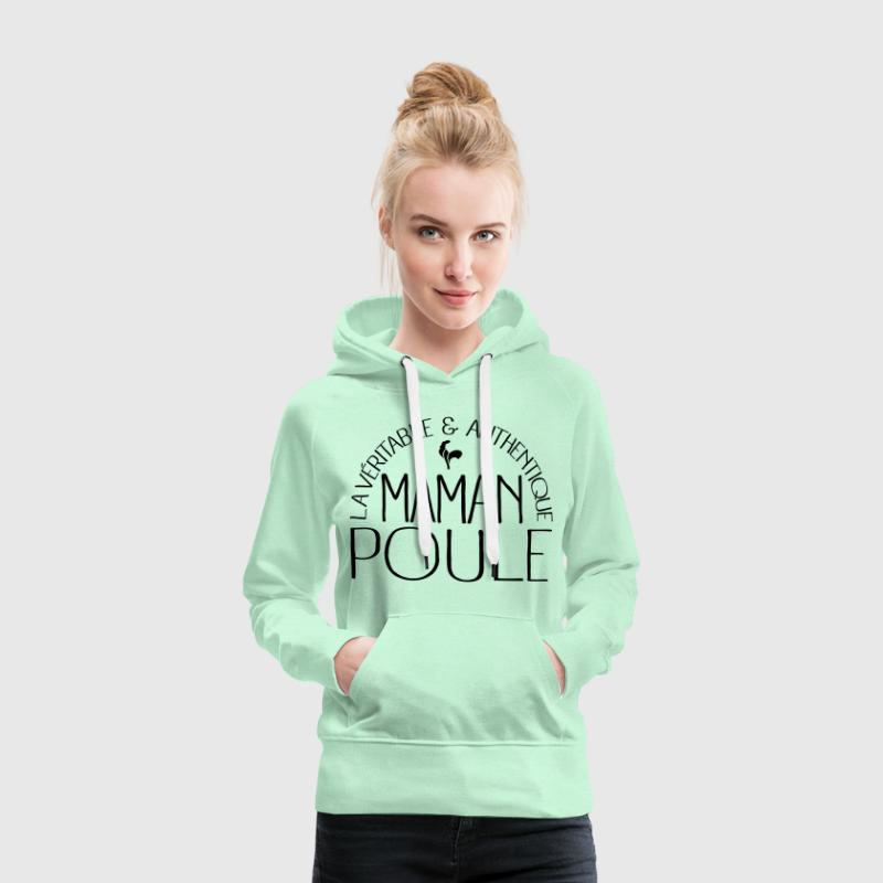 Maman Poule Sweat-shirts - Sweat-shirt à capuche Premium pour femmes
