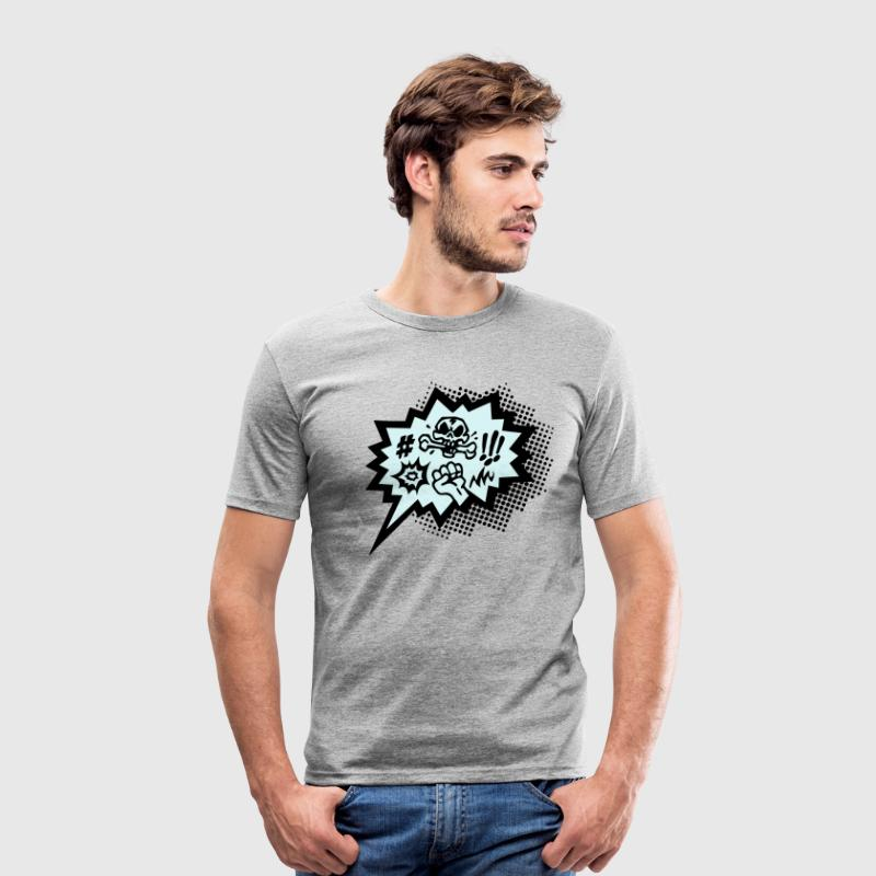Comic Fluch, Sprechblase, Comics, Ärger, T-shirts - Männer Slim Fit T-Shirt