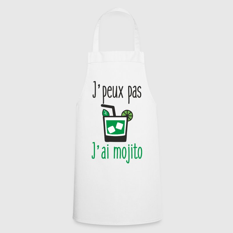 Tablier j 39 peux pas j 39 ai mojito spreadshirt for Proverbe cuisine humour