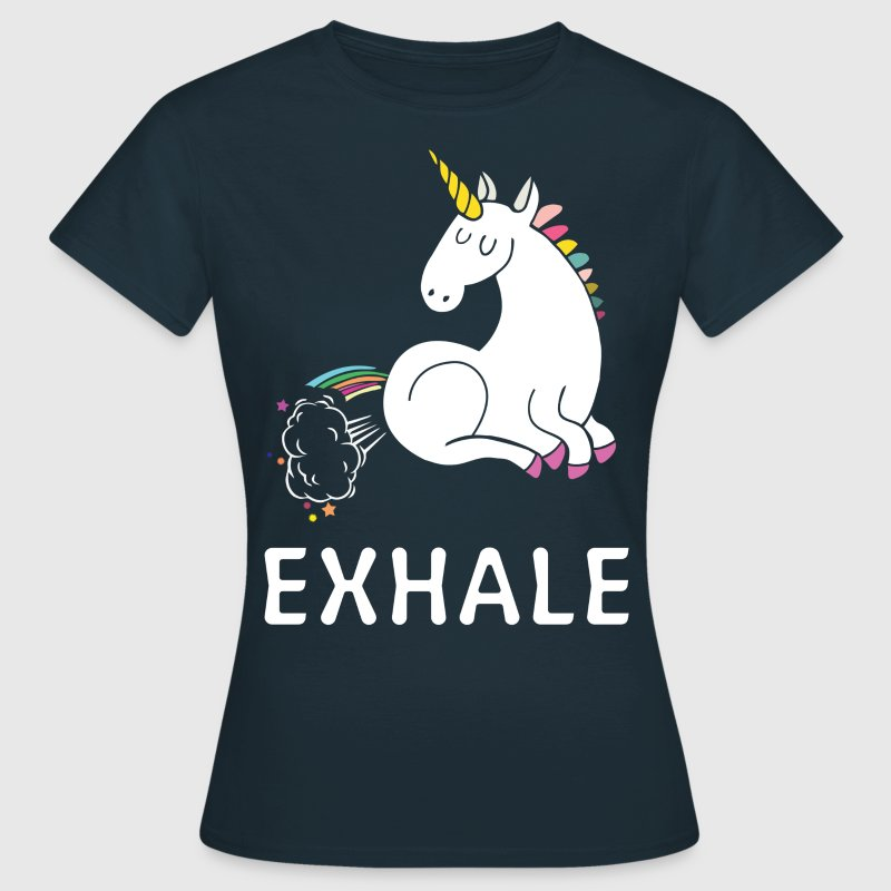 Exhale Unicorn T-Shirts - Women's T-Shirt