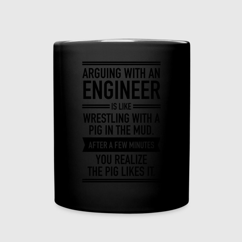 Arguing With An Engineer... Mugs & Drinkware - Full Colour Mug
