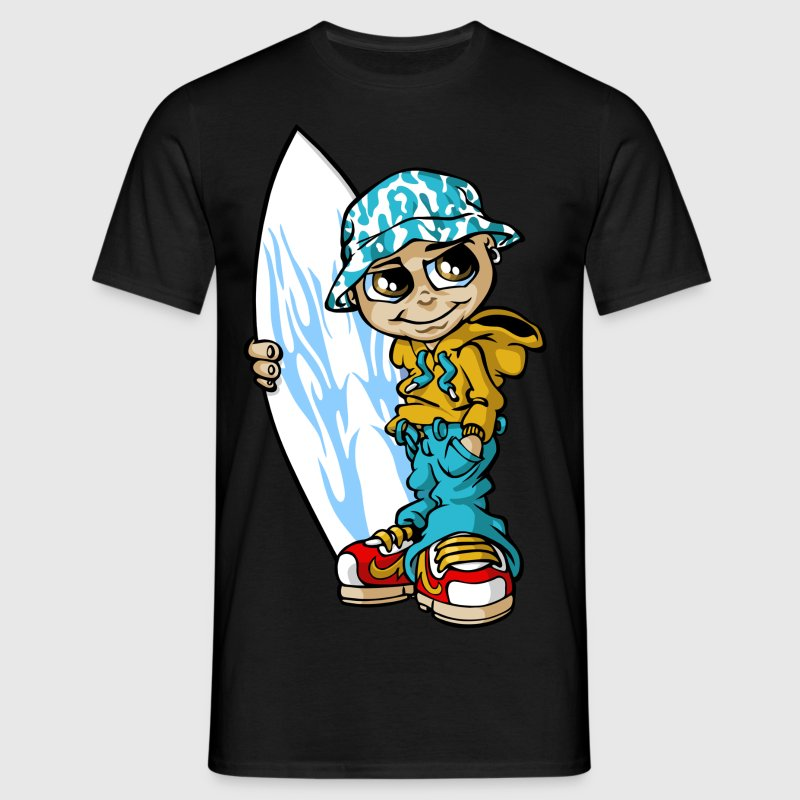 Surfer boy and sunhat - Men's T-Shirt