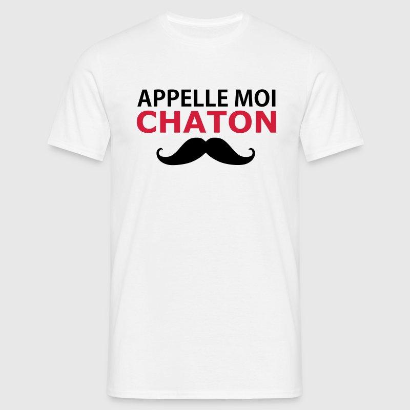t shirt appelle moi chaton avec moustache spreadshirt. Black Bedroom Furniture Sets. Home Design Ideas