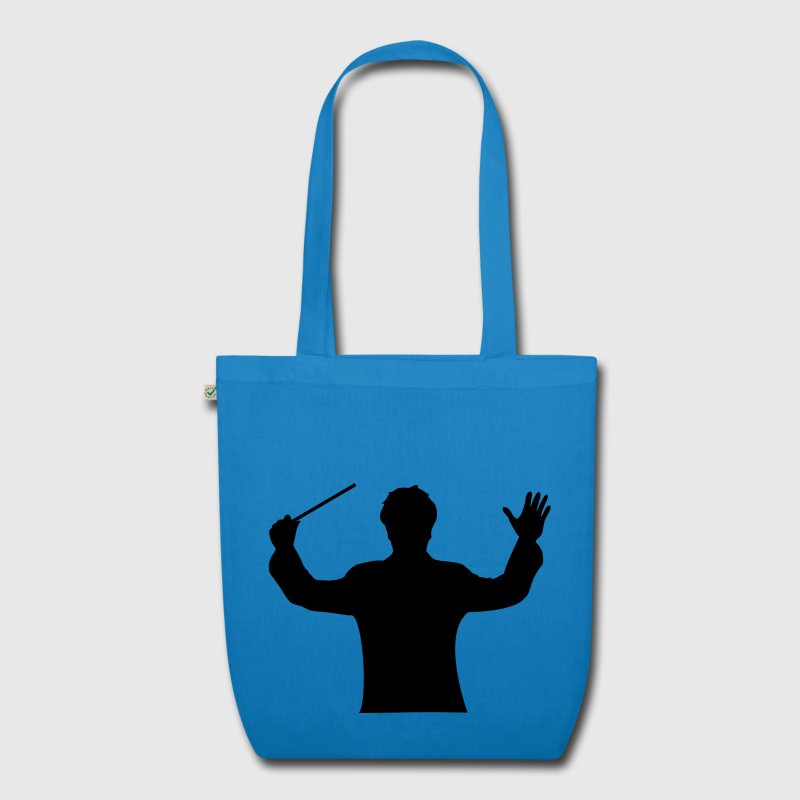 Peacock-blue music maestro Bags  - EarthPositive Tote Bag