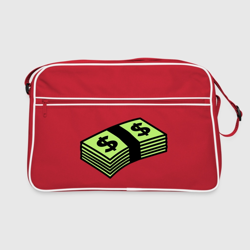 Red/white Money dollars Color Bags  - Retro Bag