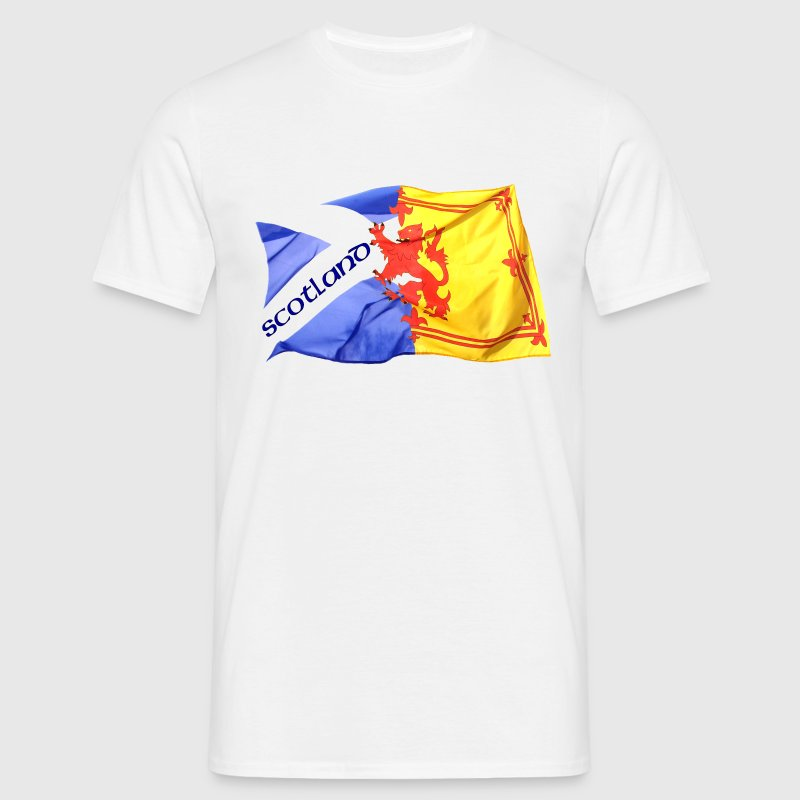 scotland saltire and lion rampant flag T-Shirts - Men's T-Shirt