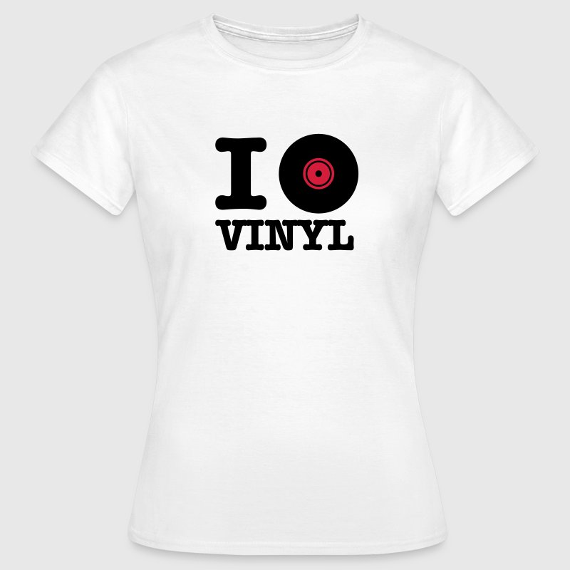 Wit i love vinyl T-shirts - Vrouwen T-shirt