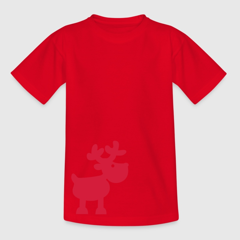 Rot Rentier - Elch Kinder T-Shirts - Teenager T-Shirt