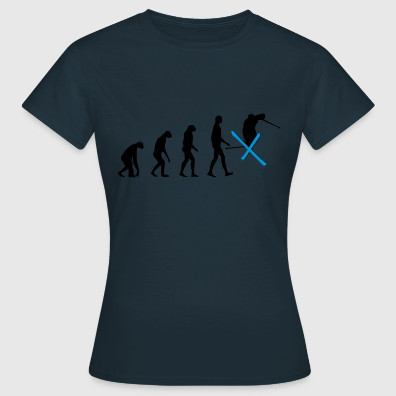 Navy Evolution Ski Women's T-Shirts - Women's T-Shirt