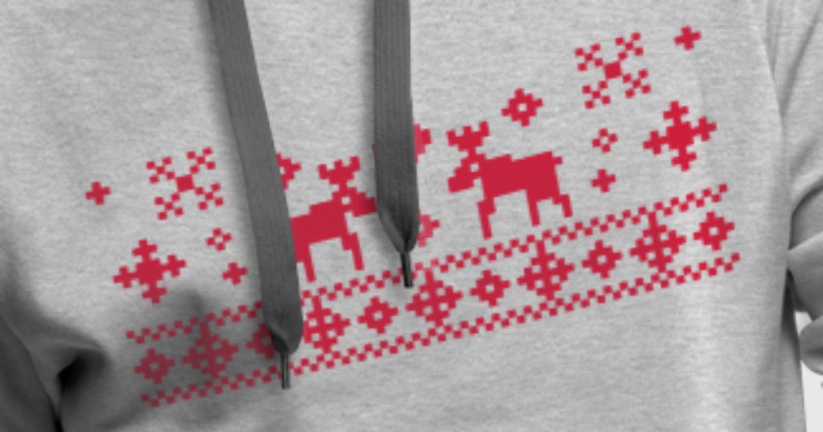 weihnachten ren norwegen elch hoodie spreadshirt. Black Bedroom Furniture Sets. Home Design Ideas