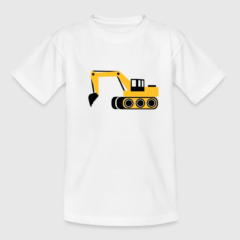 Weiß Bagger Kinder T-Shirts - Teenager T-Shirt