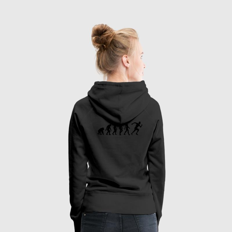 Schwarz Evolution of Running (1c) Pullover - Frauen Premium Hoodie