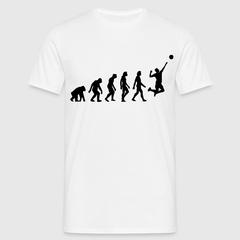 Blanco Evolution of Volleyball (1c) Camisetas - Camiseta hombre