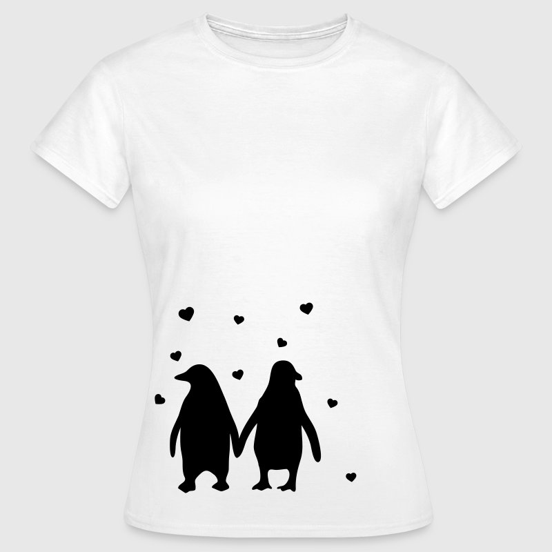 Penguins in love - Pinguine lieben sich T-Shirts - Frauen T-Shirt