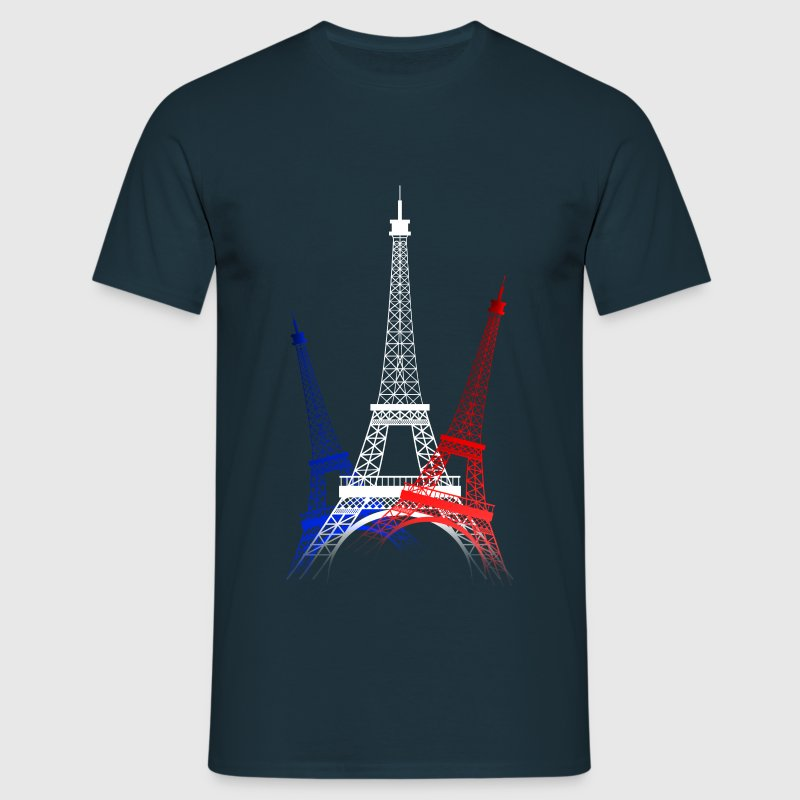 EIFFEL TOWER (Blue-White-Red) - Men's T-Shirt