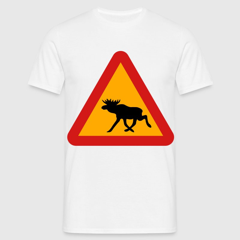 moose sign T-Shirts - Men's T-Shirt