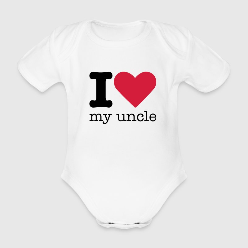 I Love My Uncle Baby Body - Baby Bio-Kurzarm-Body