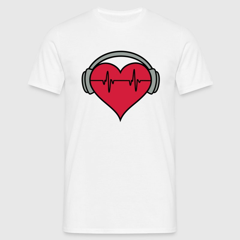 heartbeat DJ headphones - Men's T-Shirt