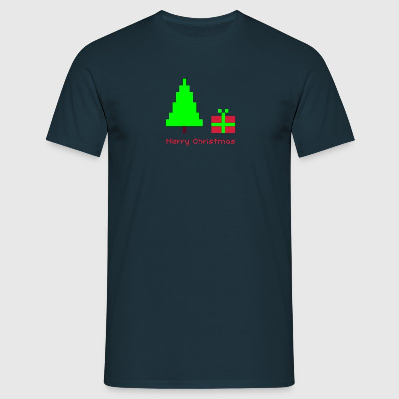 shirt 8bit merry christmas - Männer T-Shirt