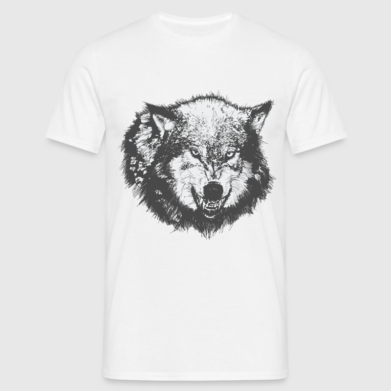 Wolf growling shirt - Men's T-Shirt