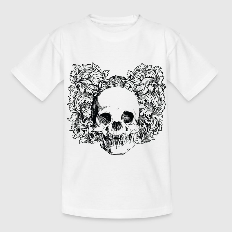 Floral Gothic Skull Shirts - Teenage T-shirt