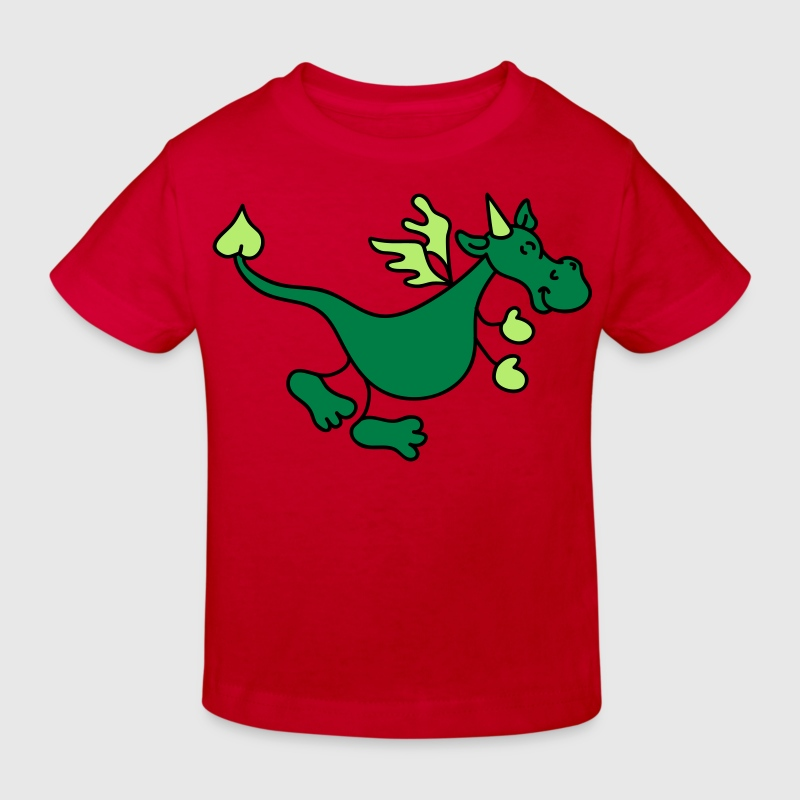 Cute Green Dragon Kids' Shirts - Kids' Organic T-shirt