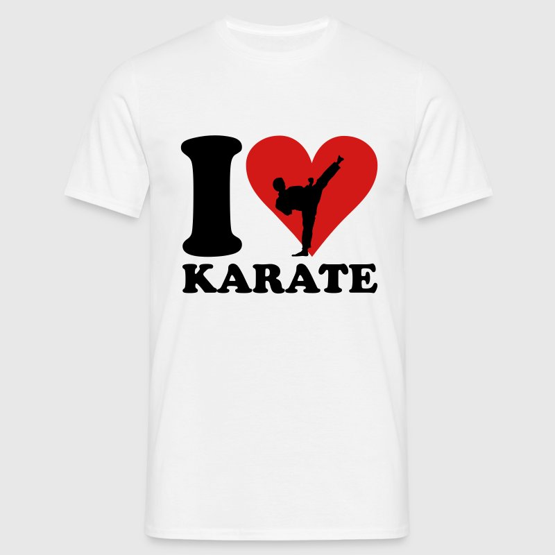 I love Karate T-skjorter - T-skjorte for menn