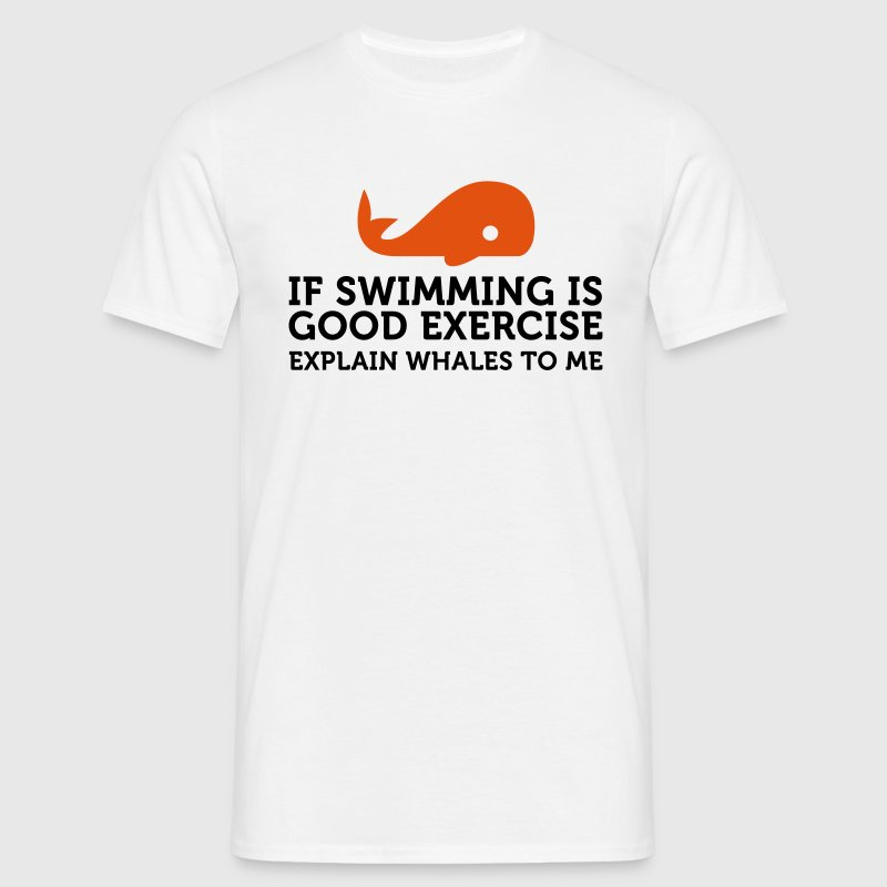 If swimming is great exercise, explain Whales (2c) T-shirts - T-shirt Homme