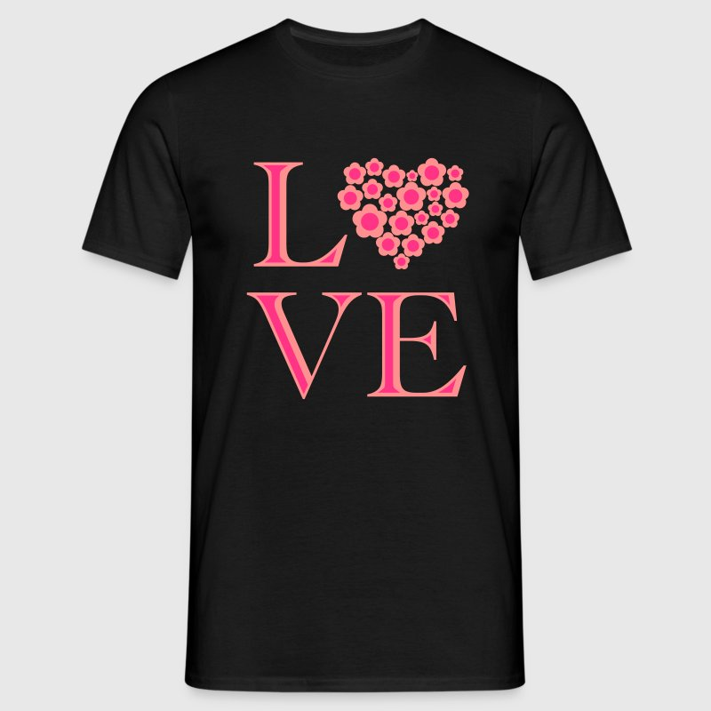 love_blumenherz_2c T-Shirts - Men's T-Shirt