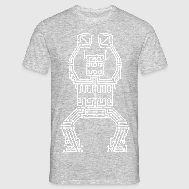 White PCB Robot T-Shirt | Spreadshirt