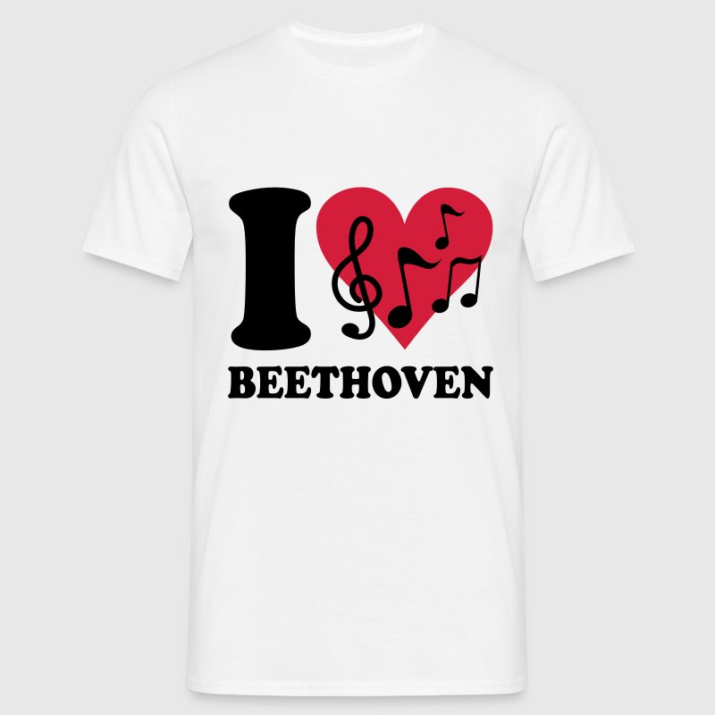 I love Beethoven T-Shirts - Men's T-Shirt