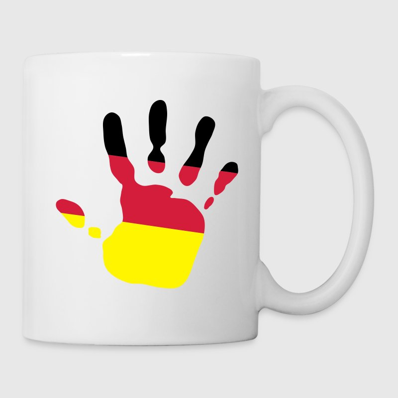 handprint german flag 3c Mugs  - Mug