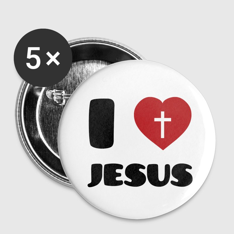 I Love Jesus Badges - Badge petit 25 mm