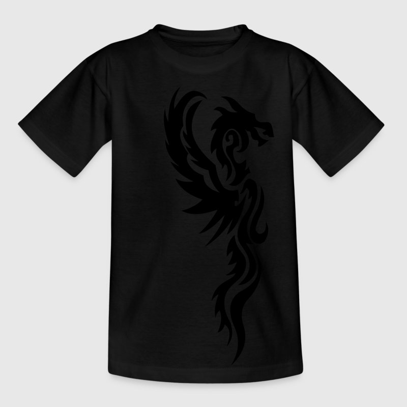 tribal dragon tattoo Camisetas niños - Camiseta adolescente
