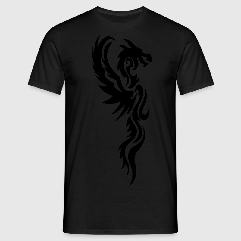 tribal dragon tattoo T-Shirts - Men's T-Shirt