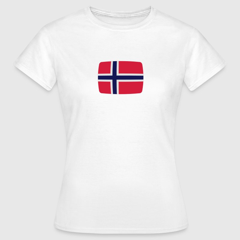 Norwegen Fahne Norwegen Flagge Norge norwegisch  T-Shirts - Frauen T-Shirt