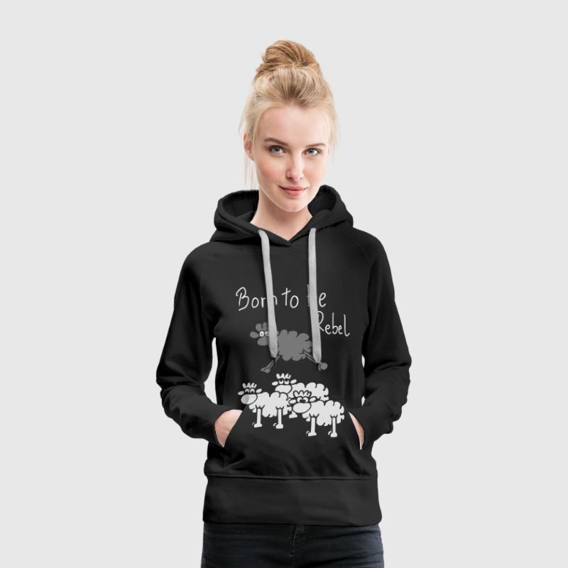 rebel schaf f r dunkle shirts hoodie spreadshirt. Black Bedroom Furniture Sets. Home Design Ideas