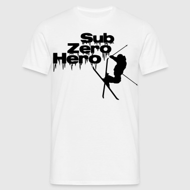 Sub Zero Hero - ski, skier, skiing, freestyle - Men's T-Shirt