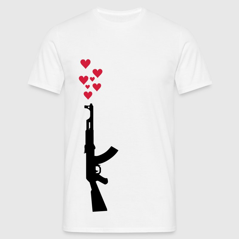 AK47 anti-war theme. T-Shirts - Men's T-Shirt