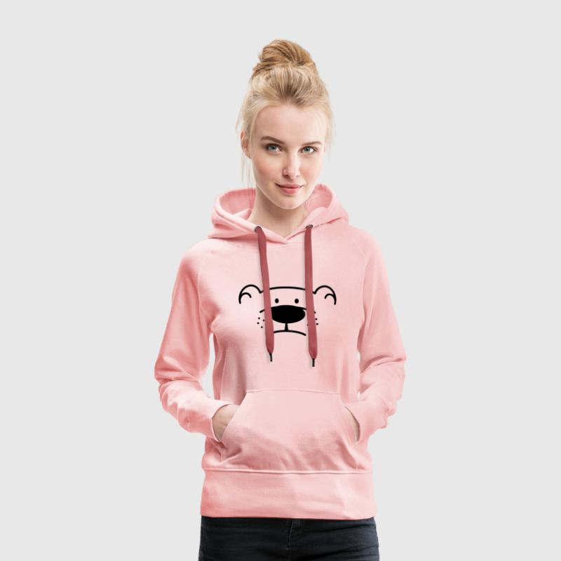 Bear Face Hoodies & Sweatshirts - Women's Premium Hoodie