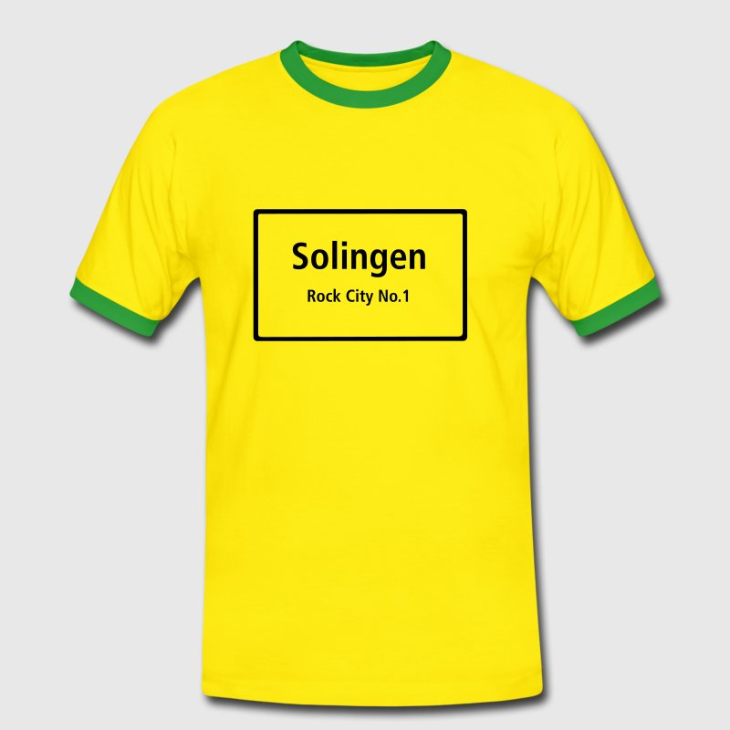 Solingen Rock City No.1 - Männer Kontrast-T-Shirt