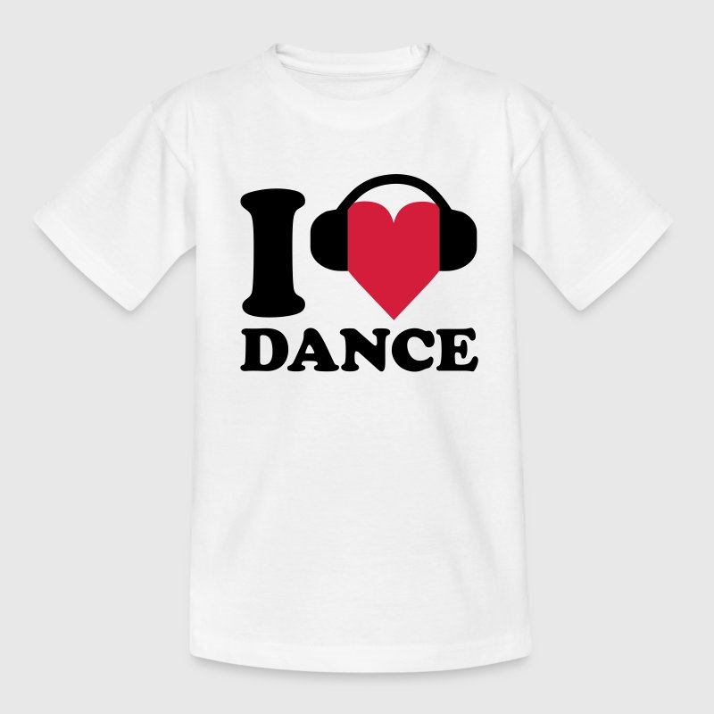 I love Music - Dance Kinder shirts - Teenager T-shirt