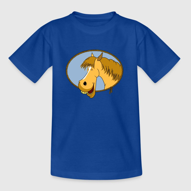 Lachendes Pferd Kinder T-Shirts - Teenager T-Shirt